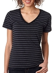 [DEMO] Ladies' Striped V-Neck Tee